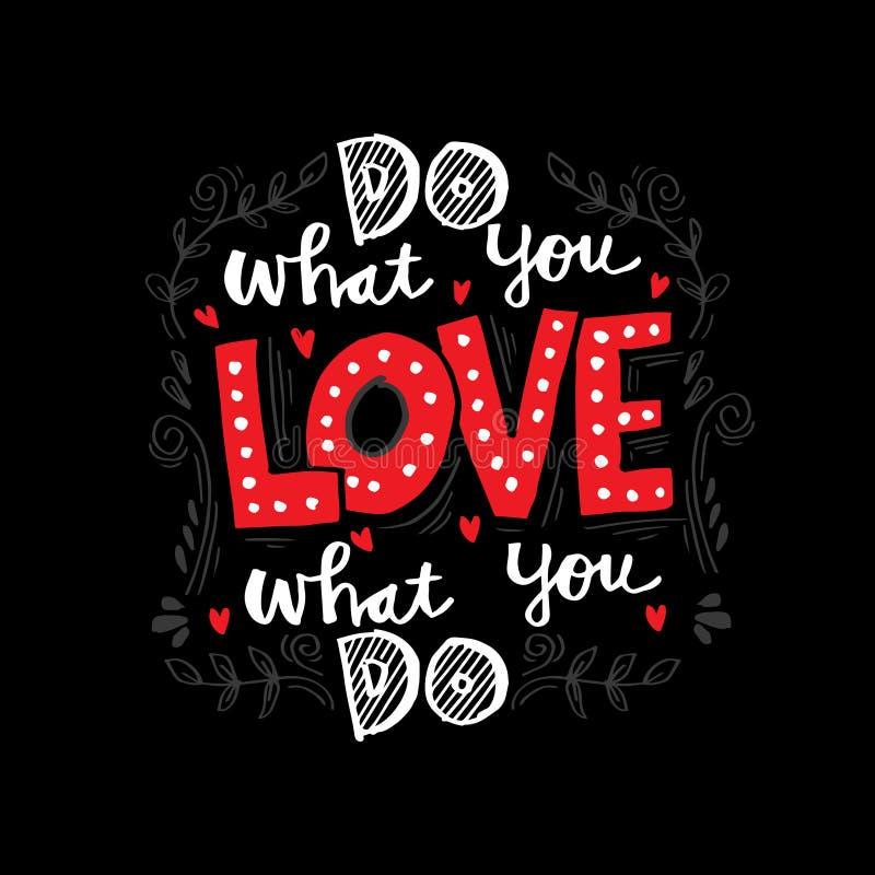Faccia che cosa voi amano, amore che cosa fate royalty illustrazione gratis