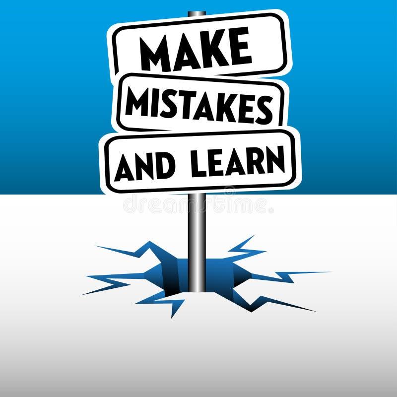 Faccia gli errori ed impari illustrazione di stock