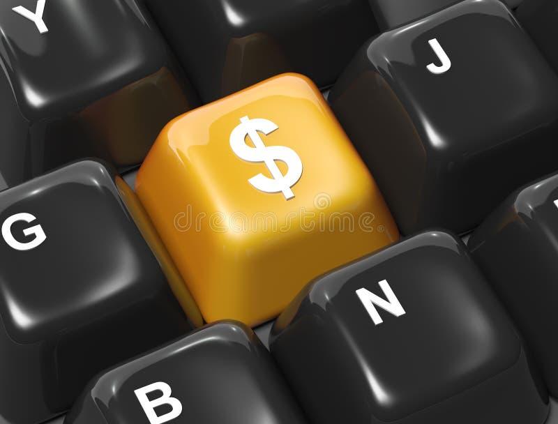 Faccia i soldi illustrazione vettoriale
