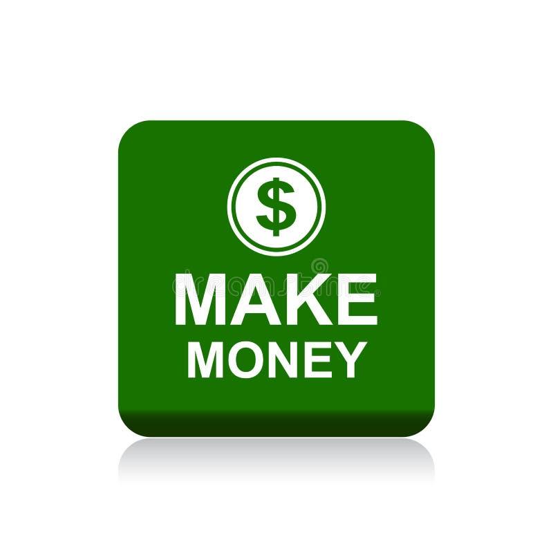 Faccia il bottone di web dei soldi royalty illustrazione gratis