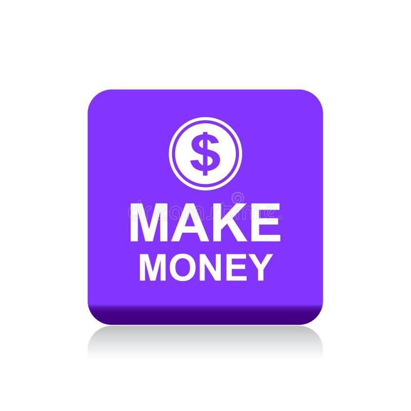 Faccia il bottone di web dei soldi illustrazione di stock