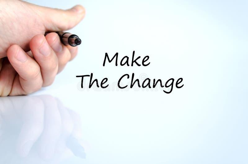 Faccia il concetto del testo del cambiamento fotografia stock libera da diritti