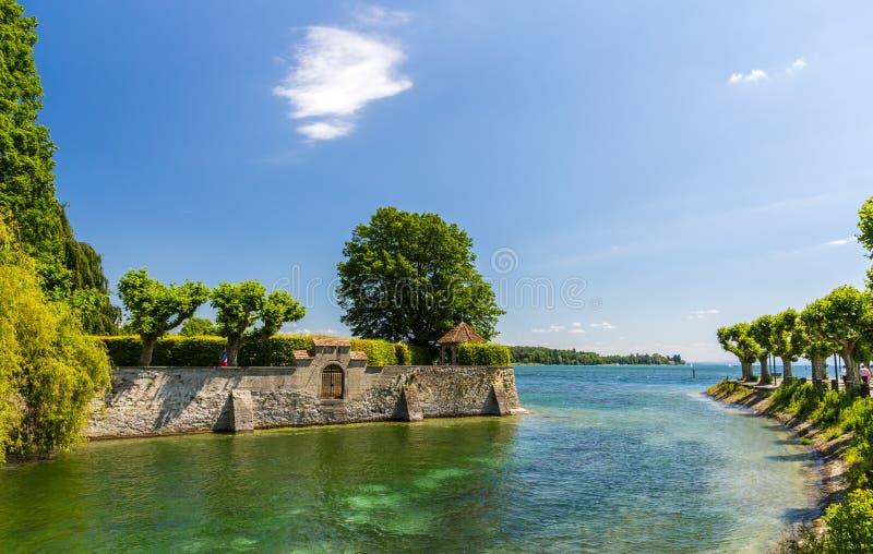 Faccia il giardinaggio vicino al lago a Costanza, Germania fotografie stock libere da diritti