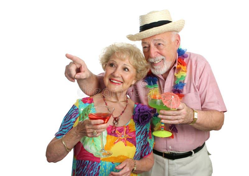 Faccia maturare le coppie che fanno un giro turistico immagine stock libera da diritti