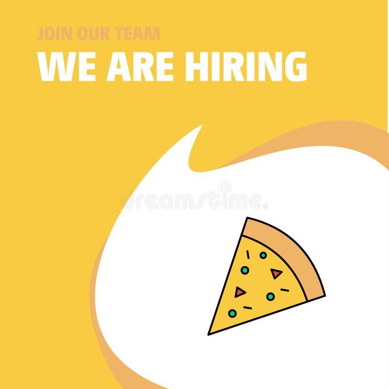 Faccia parte della nostra squadra Pizza di Busienss Company stiamo assumendo la progettazione di Callout del manifesto Fondo di v illustrazione di stock