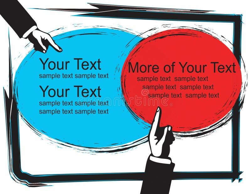 Faccia pubblicità a illustrazione vettoriale