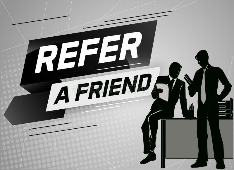 Faccia riferimento un'illustrazione di vettore di concetto di parola dell'amico con la conversazione della gente dell'uomo della  illustrazione vettoriale