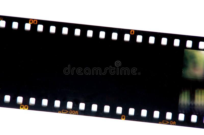 Faccia scorrere la pellicola fotografia stock