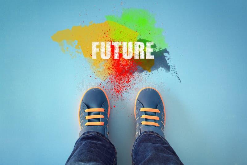Faccia un passo nel futuro immagine stock