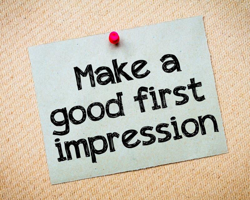 Faccia una prima buona impressione fotografia stock