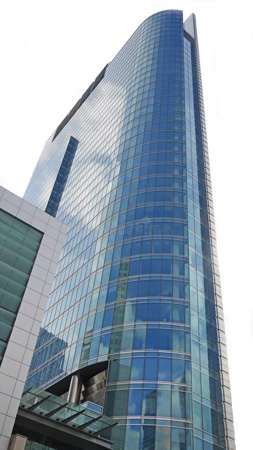 Facciata blu del grattacielo fotografia stock libera da diritti