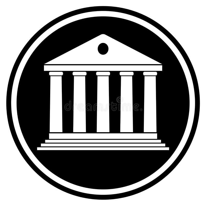 Facciata classica della costruzione della corte illustrazione vettoriale
