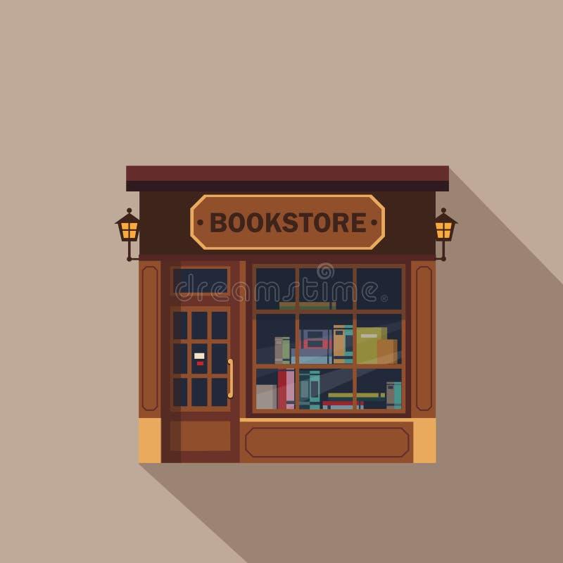 Facciata dei negozi e dei ristoranti, vettore di stanza frontale di negozio royalty illustrazione gratis