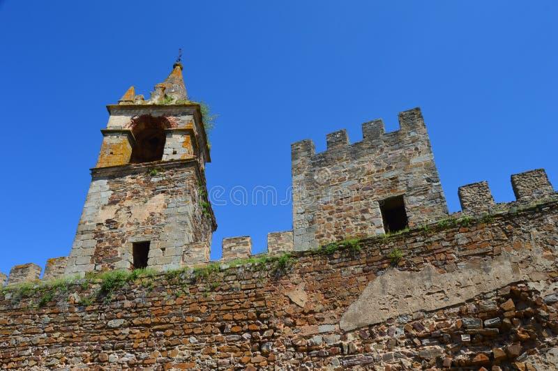 Facciata del castello di Mourão fotografie stock libere da diritti