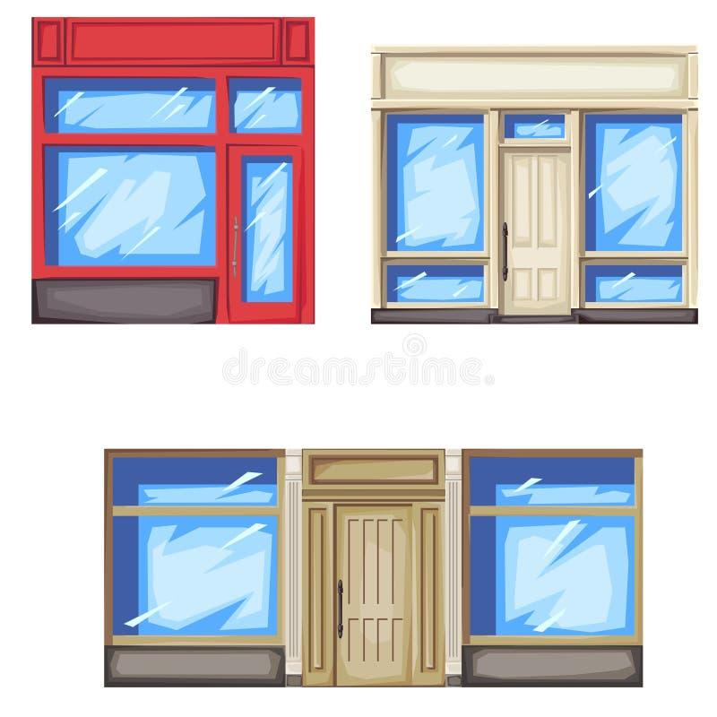 Facciata del deposito e del negozio royalty illustrazione gratis