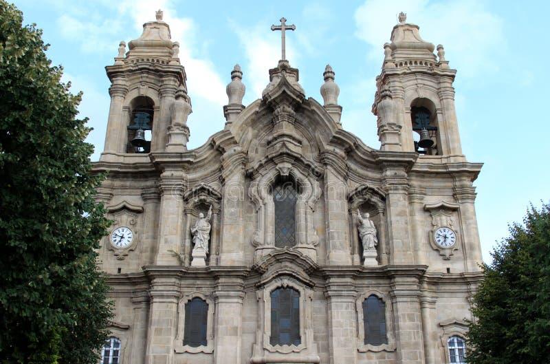 Facciata del DOS Congregados, Braga, Portogallo di Igreja fotografia stock