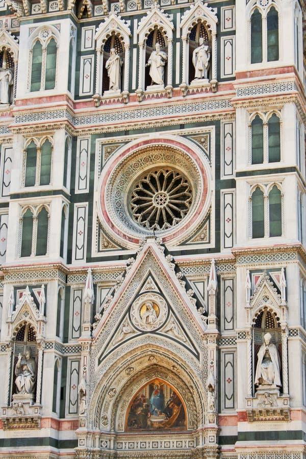 Facciata del Duomo a Firenze fotografie stock