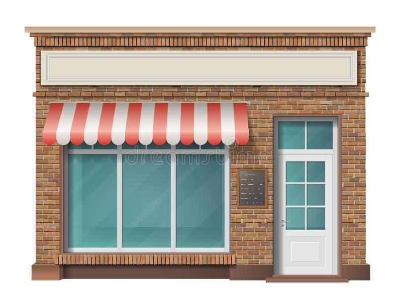 Facciata del magazzino del mattone illustrazione vettoriale