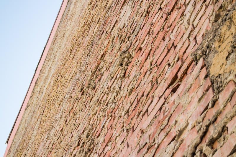 Facciata del muro di mattoni fotografia stock