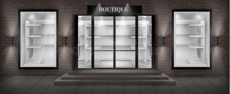 Facciata del negozio del boutique di vettore con l'insegna royalty illustrazione gratis