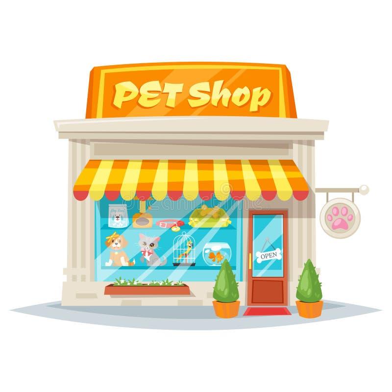 facciata del negozio di animali illustrazione vettoriale