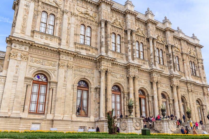 Facciata del palazzo Costantinopoli di Dolmabahce immagini stock