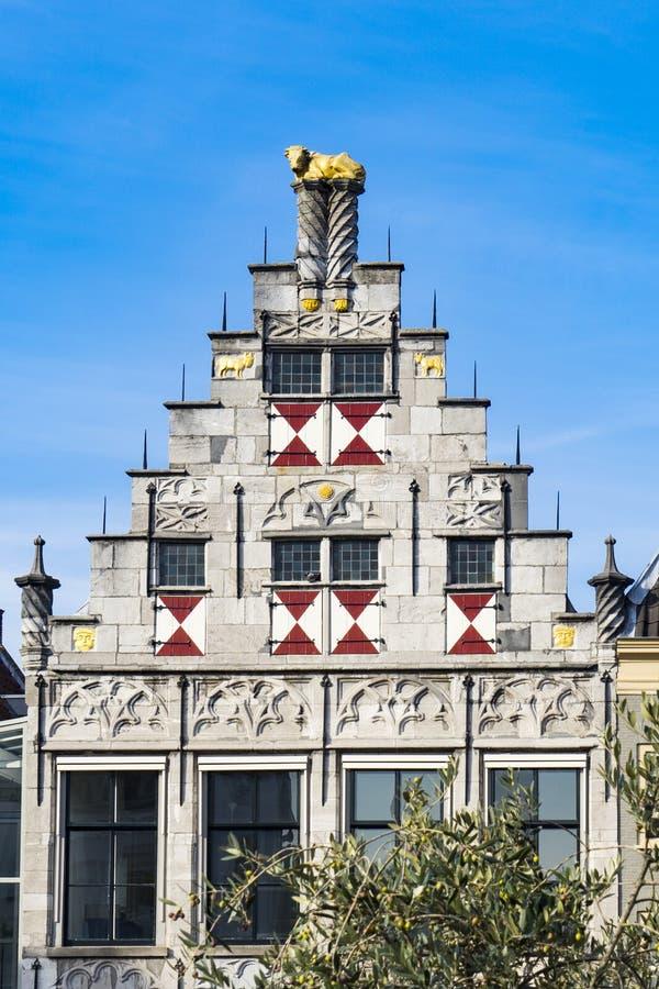 Facciata della biblioteca Dordrecht, Paesi Bassi fotografia stock libera da diritti