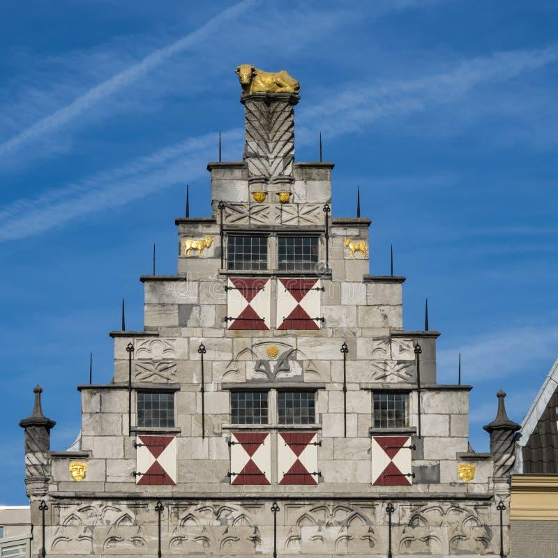 Facciata della biblioteca Dordrecht, Paesi Bassi fotografia stock