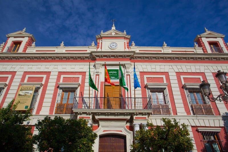 Facciata della Camera della provincia in Siviglia immagini stock libere da diritti