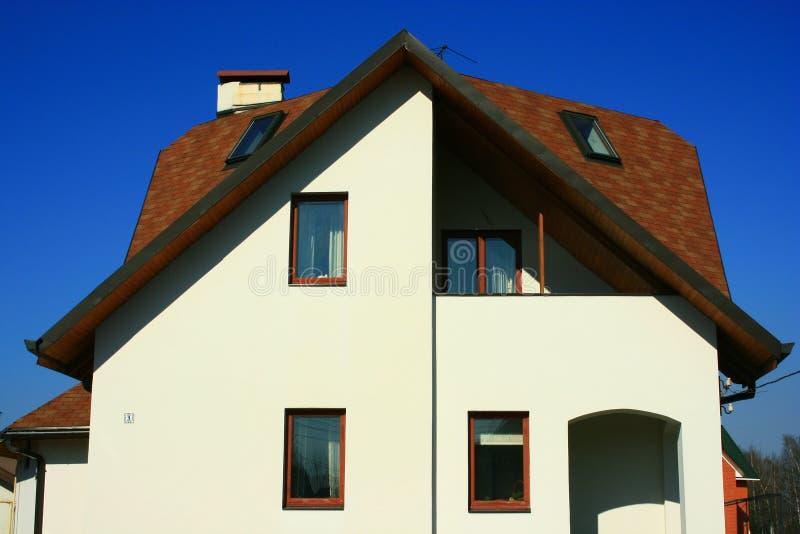 Facciata della casa di campagna fotografia stock for Design della casa di campagna
