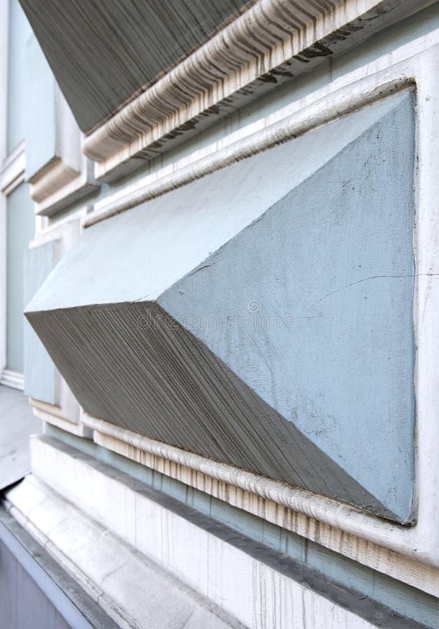 Facciata della casa nel centro di Mosca fotografie stock libere da diritti