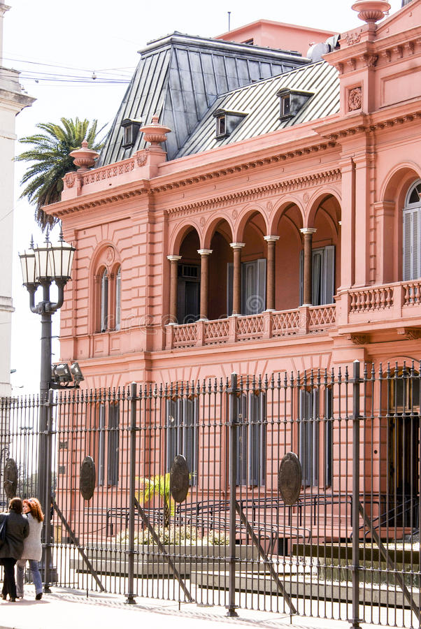 Facciata della casa Rosada Buenos Aires - in Argentina fotografia stock