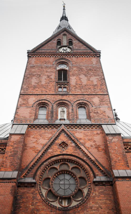 Facciata della chiesa di Sankt Marien o di St Mary immagine stock libera da diritti