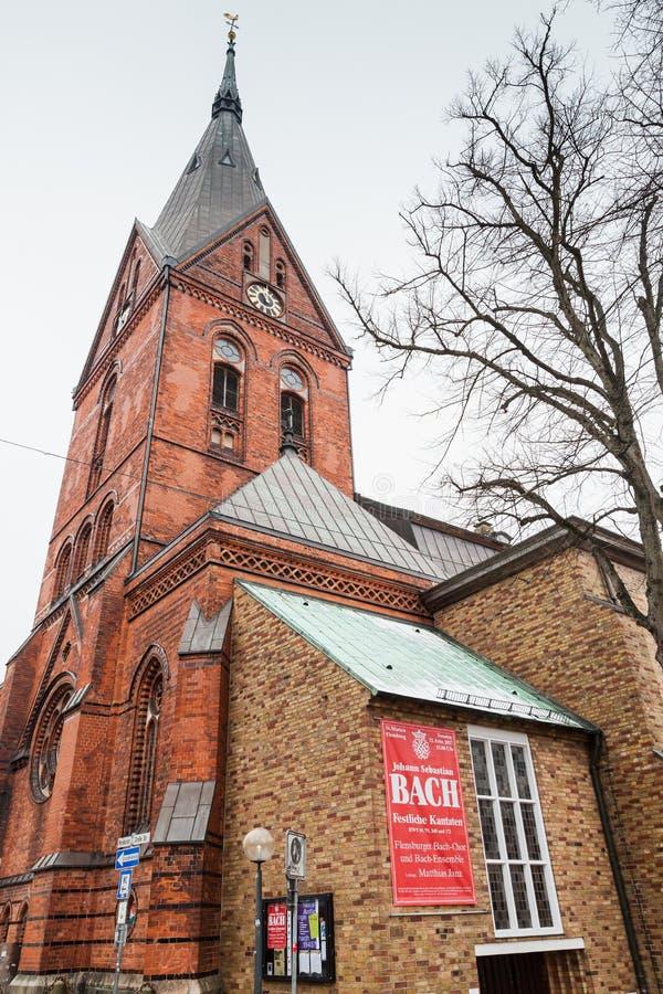 Facciata della chiesa di Sankt Marien o di St Mary immagini stock