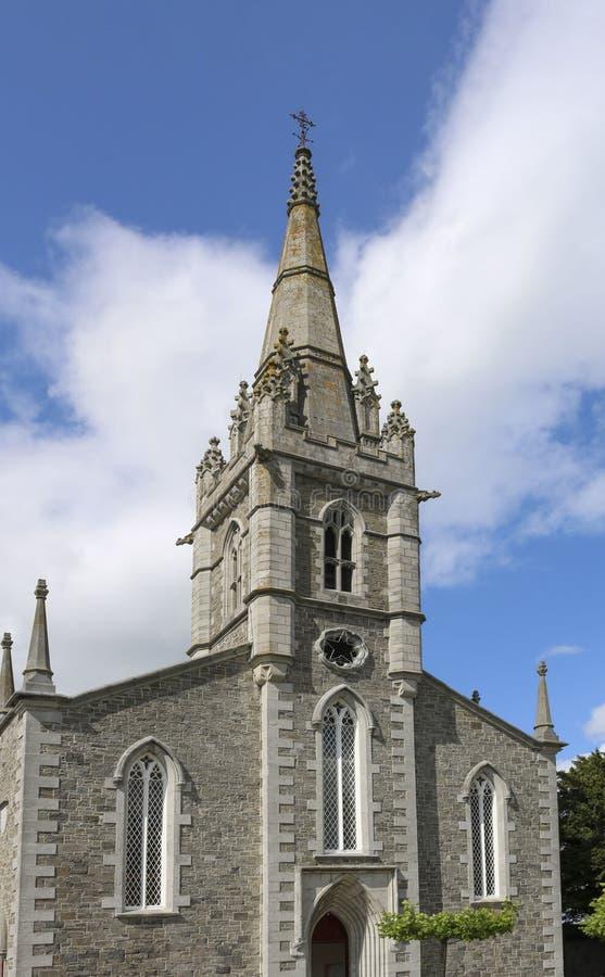 Facciata della chiesa Malahide Irlanda fotografie stock libere da diritti