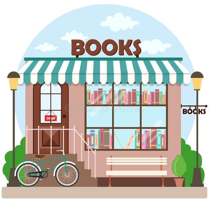 Facciata della costruzione della libreria della libreria royalty illustrazione gratis