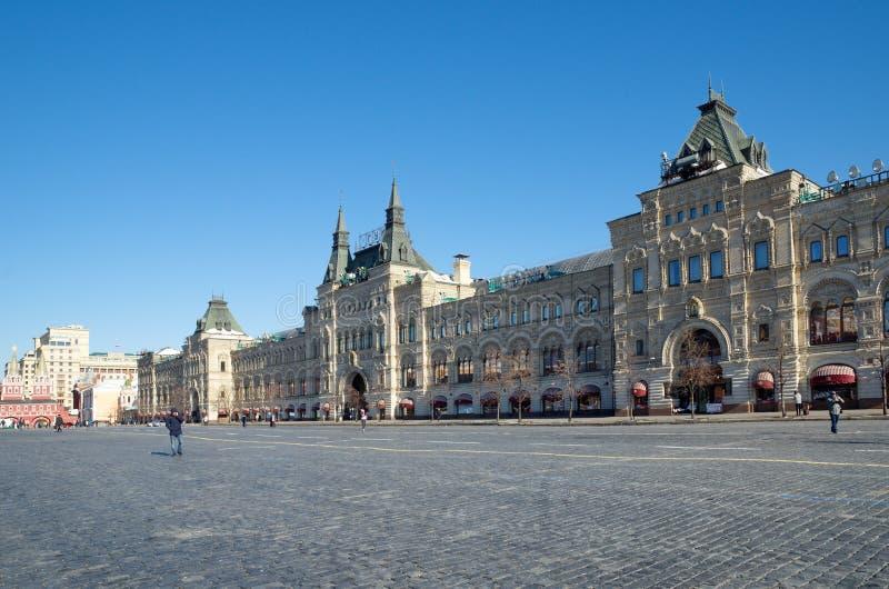 Facciata della GOMMA del grande magazzino di dipartimento di stato a Mosca fotografie stock