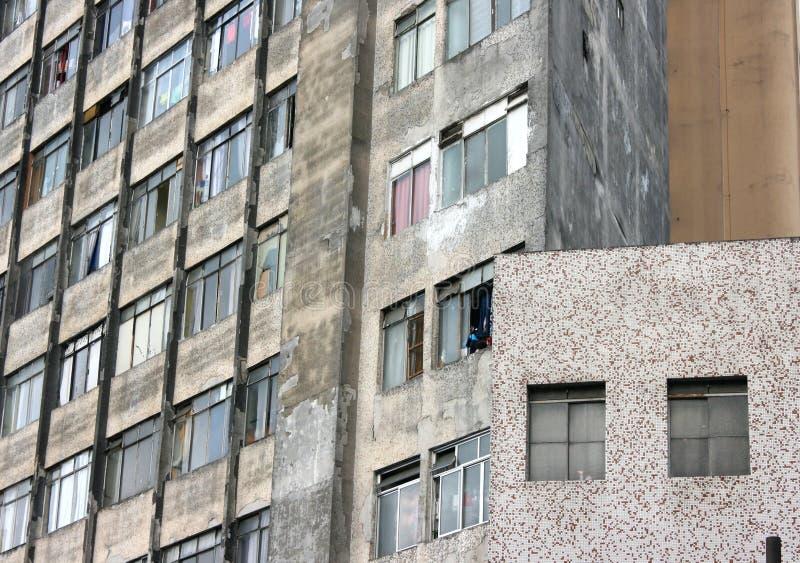 Facciata della riduzione di attività a Sao Paulo immagini stock libere da diritti