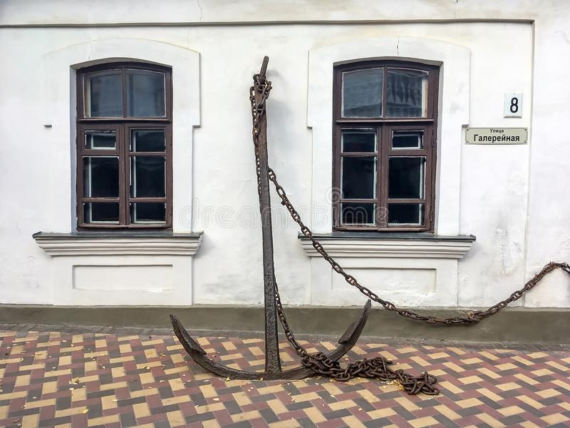 Facciata di Alexander Grin Museum in Feodosia fotografia stock libera da diritti