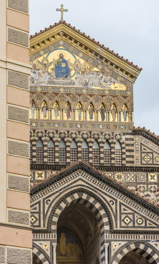 Facciata di Amalfi della cattedrale immagini stock