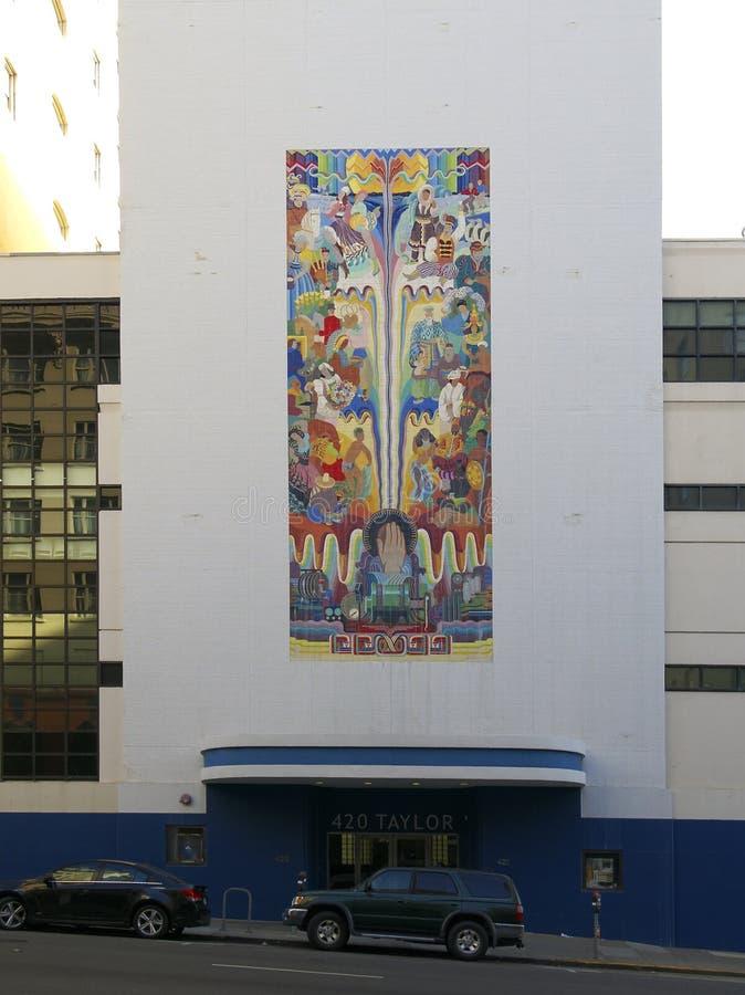 Facciata di art deco a San Francisco immagine stock libera da diritti
