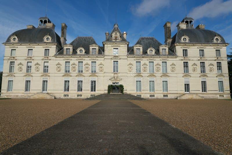 Facciata di Chateau de Cheverny fotografia stock