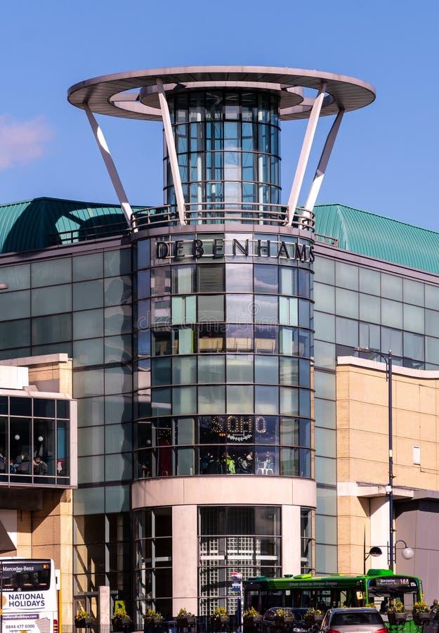 Facciata di Debenhams Birmingham immagine stock libera da diritti