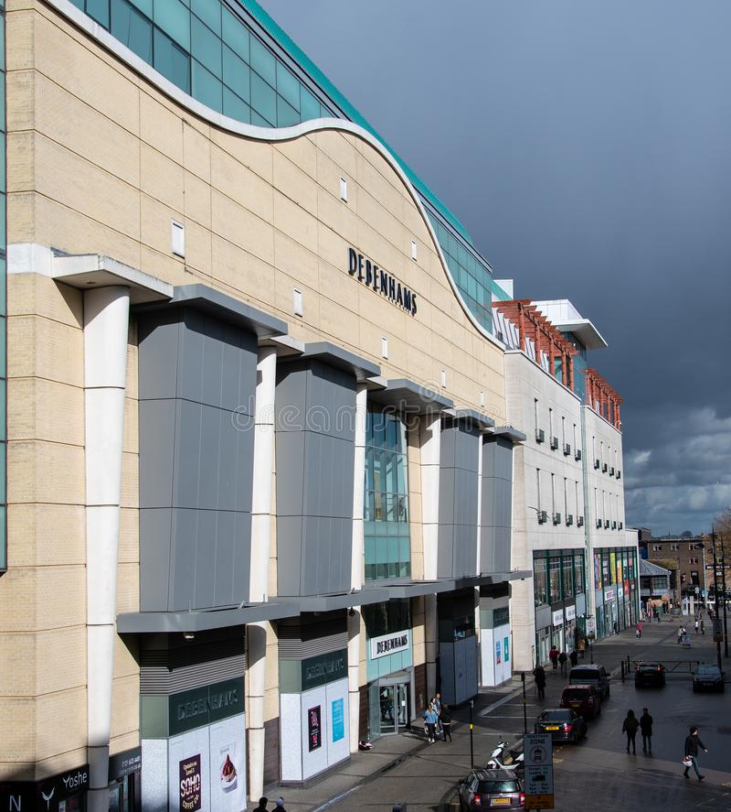 Facciata di Debenhams Birmingham fotografia stock