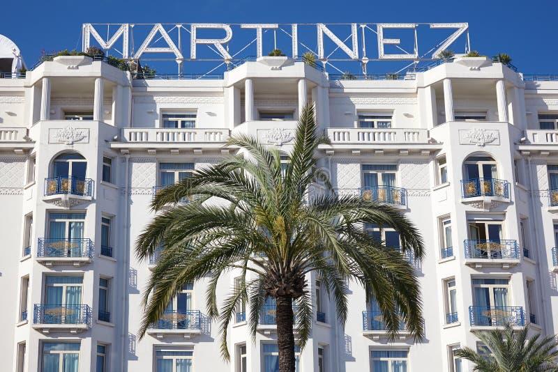 Facciata di Martinez dell'hotel a Cannes fotografie stock libere da diritti