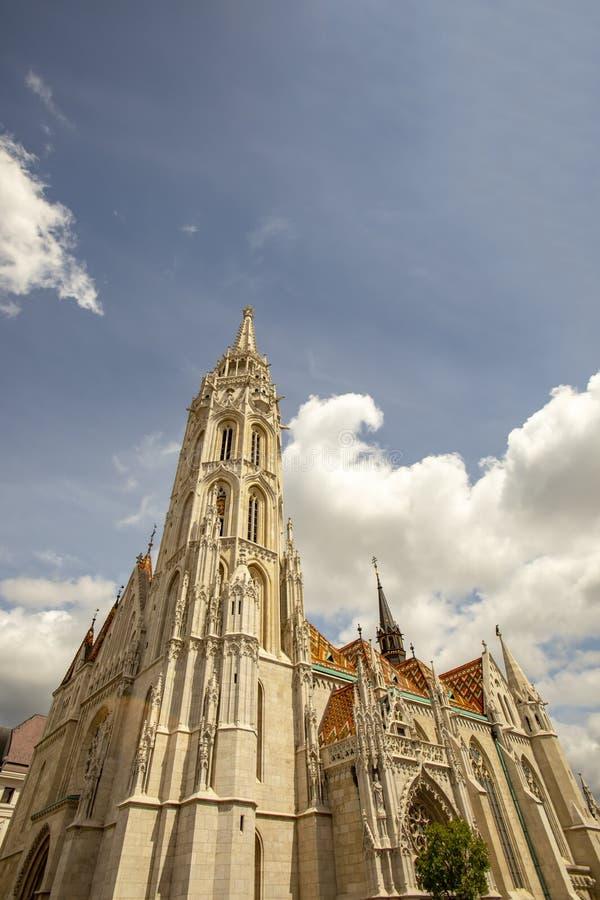 Facciata di Matthias Church Budapest Hungary fotografia stock