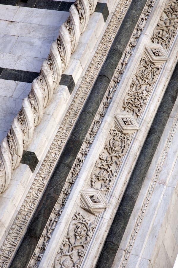 Facciata di Sienna Cathedral Church fotografia stock libera da diritti
