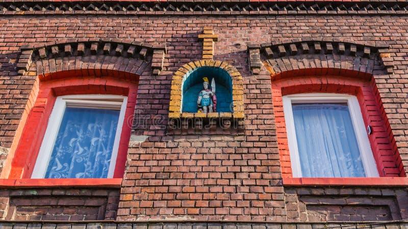 Facciata di una casa slesiana tipica immagine stock - Facciata di una casa ...