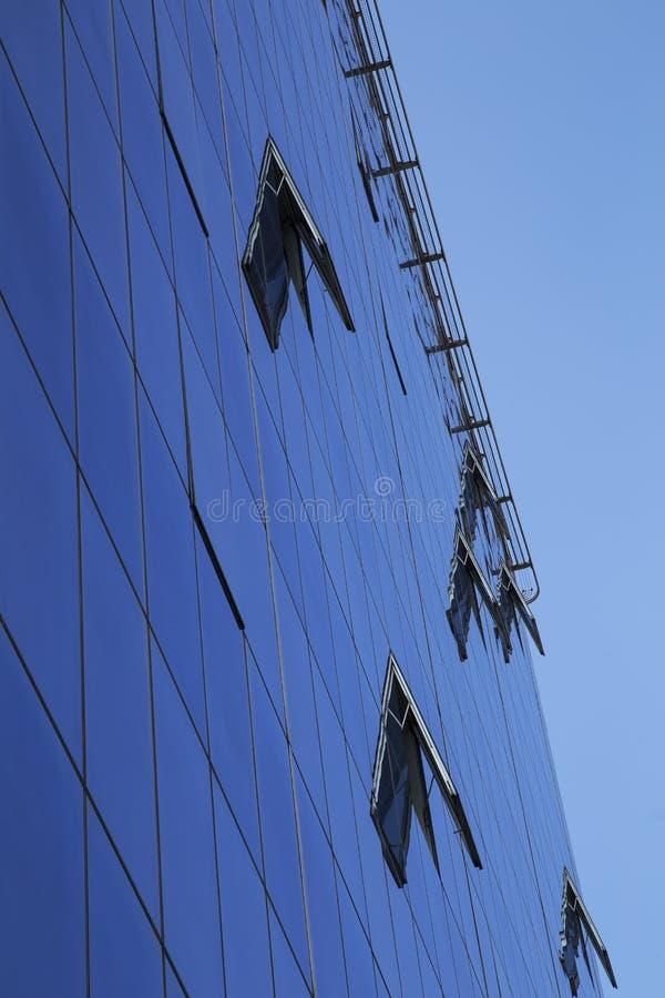 Facciata di vetro moderna fotografie stock