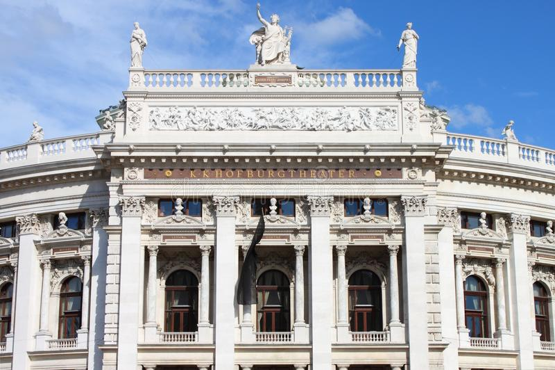 Facciata di Vienna Burgtheater fotografia stock